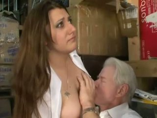 Dominant bitches jerk off old mans small penis