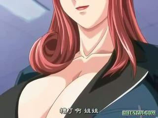 Malaki busted hentai istudyante Mainit tittyfucking at