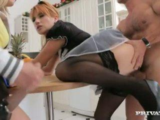 Maid, Teen And Her Boyfriend