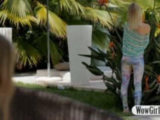 Two Teen Girls Linda And Anjelica Lesbian Sex Outdoors