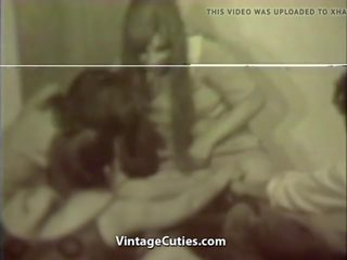 Girls Fucking in Their First College Group Sex Vintage