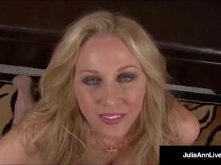 Mega marota milf julia ann talks porcas & fundo throats