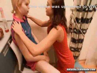 girls, kissing, naked
