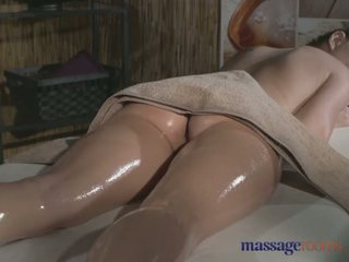 Massage Rooms Tattooed stunner has beautiful shaved hole filled with cock - Porn Video 481