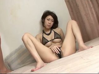 Asian Babe is surrounded by hard cocks