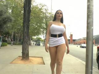 Big Tit Spanish Supermodel Bound Dragged Through Madrid City Center