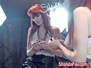 Canadian MILF Shanda Fay Fucks Herself In Front of Mirror!