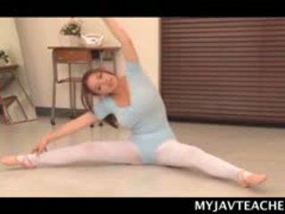 Superb asia ballerina making her students mesum at school