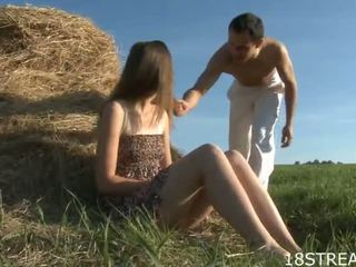 Russian Woman Acquires Some Heavy Shagging Outdoor