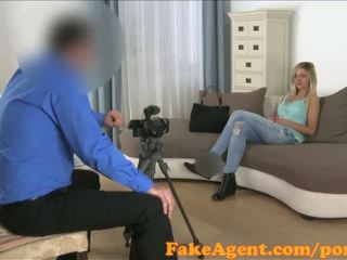 FakeAgent Sexy blonde with amazing Tits gets fucked hard and spunked over - Porn Video 711