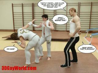 Kung fu guys tatlong-dimensiyonal bakla komika animated comics