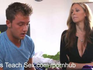 liels penis, 3some, creampie, mamma