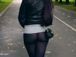solo girl, bubble, flashing, tights