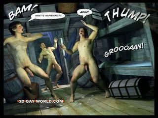 Adventures 의 cabin b-y 3d 명랑한 세계 comics