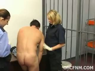 Dirty Female Cops Rubbing Rock Cock