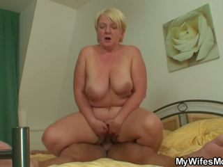 Busty Blonde Mom Riding Husband's Cock, Porn 1d
