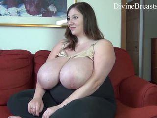 brunette, bbw, solo girl, huge tits