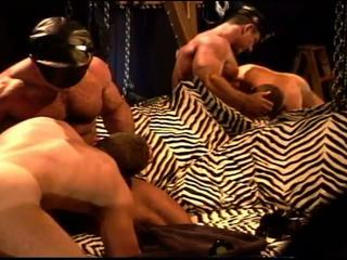 muscular, leather, kink, blowjob