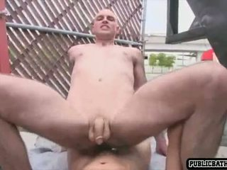 Ripped Asian Guy Outdoor Suck and Fuck