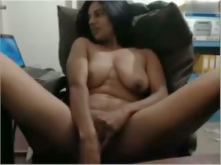 Indian Cougar on Cam Masturbating on Chair Part-1: Porn 02