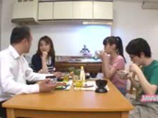 japonês, boquete, lambida, público