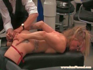 I Am Pierced BDSM Slave with Pussy Piercings Stuffed...