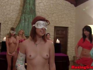 College Les Amateur Scissorfucking at Hazing: Free Porn 55
