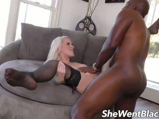 Cute Teen Blonde Wth Hairy Pussy Fucked by Black.