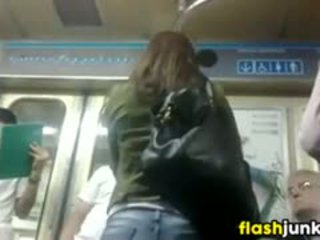 Great Ass In Tight Jeans On A Subway