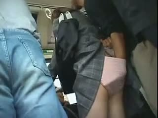 Schoolgirl Has To Give A Blowjob In A Bus