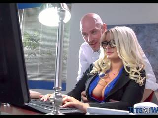 Fucking with Thick Blonde Secretary, Free Porn 41