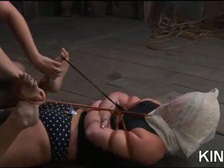 ร้อน หญิง gets tied ยาก