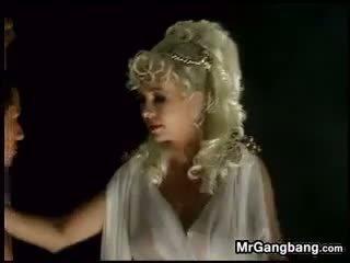 Mature Blonde In Interracial Gangbang Classic
