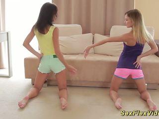 Skinny Flexible Girlfriend Gymnasts, Free Porn 92