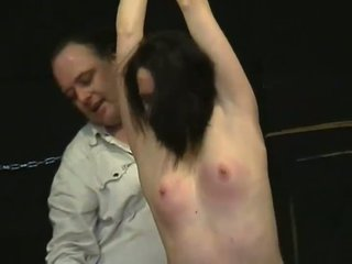 Teen slavegirl Lyarah tied and tormented to tears
