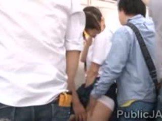 japanese, group sex, public