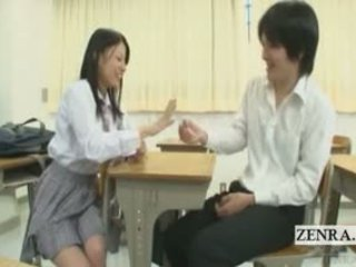Subtitled CFNM Japanese Schoolgirl Class Show And Tell