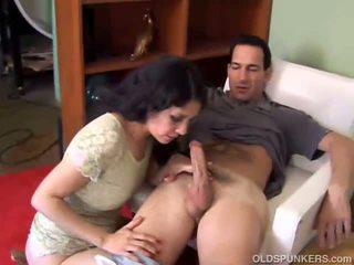 Latina rides cock and gives a blowjob
