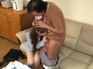 brunette, oral sex, deepthroat, japanese