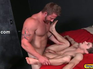 Skinny tw-nk getting his ass fuck by hunk gay