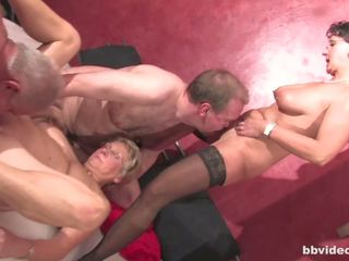 Bbvideo Com Chesty German Grannies Fucks in Foursome...