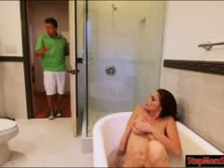 Teen Couple Threesome With Busty Stepmom Monique Alexander