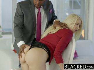 Blacked business blondinka anikka albrite göt fucked by a bbc