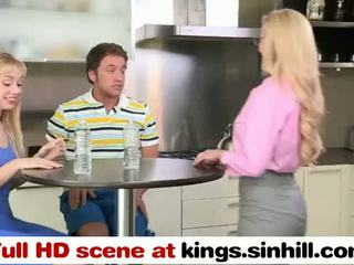 Blonde MILF And Her Daughter FFM Threesome - kings.sinhill.com