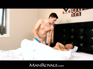 ManRoyale Hairy stud wakes up to great blow j