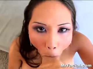 check brunette, oral sex, cum shot
