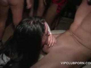 Busty hoe humping shaft in the VIP lounge