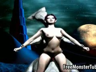 Hot 3D Cartoon Babe Gets Fucked Hard By An Alien
