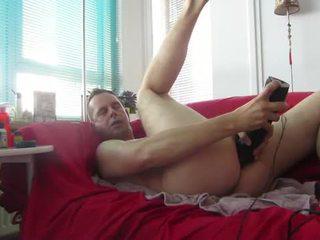 Fist podczas na mój knees, sperma strzał