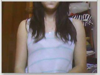 webcam, dievča, chat
